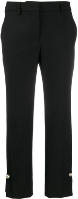Incotex high waisted cropped trousers