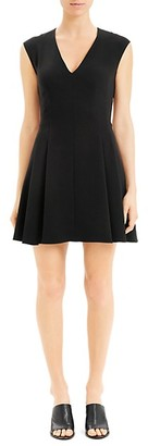 Theory Pleated Mini Dress