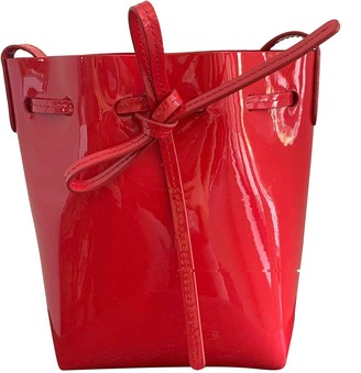 Mansur Gavriel Bucket Red Patent leather Handbags