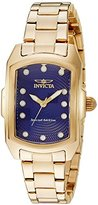 Invicta Women's 'Lupah' Quartz Stainless Steel Casual Watch, Color:Gold-Toned (Model: 16284)