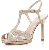 Kate Spade Feodora Glitter T Strap High Heel Sandals