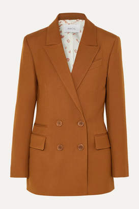 Racil Archie Double-breasted Crepe Blazer - Light brown