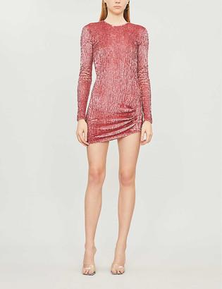 Pinko Settembre asymmetric sequinned mini dress