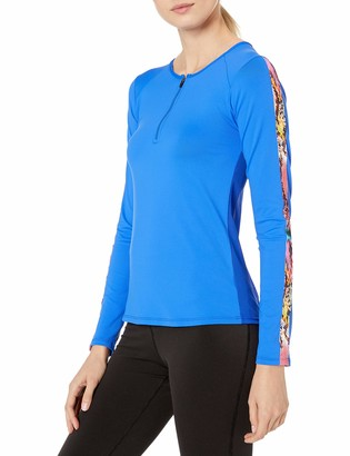 Luli Fama Women's Fitted Long Sleeve Trimmed Top