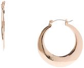 Carole Rose Goldtone Thick Hoop Earrings