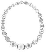 Marco Bicego 18K White Gold Lunaria Diamond Collar Necklace, 16.5
