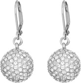 Nina Leverback Pave Ball Drop Earrings Earring