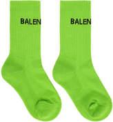 Balenciaga Green New Logo Socks