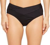 Kenneth Cole New York Women's Sexy Solids Cross Over Hipster Bikini Bottom