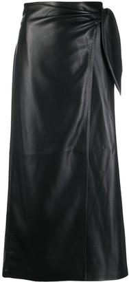 Nanushka Amas vegan leather sarong skirt