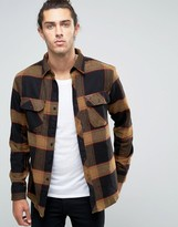 Brixton Checked Flannel Shirt In Regular Fit