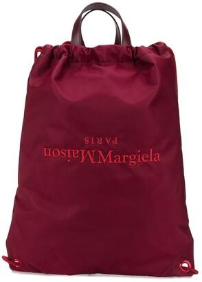 Maison Margiela Reverse Logo Print Backpack