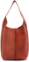 Acne Studios Topstitched-suede Shoulder Bag And Pouch - Womens - Tan