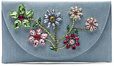 Mystique Flower Clutch in Baby Blue.