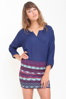 Goddis Lacie Mini Skirt In Deep Roast