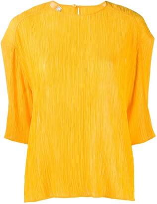 Nina Ricci micro-pleated T-shirt