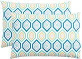 Diamond Daisy Pillowcases, Set of 2, Cool Multi