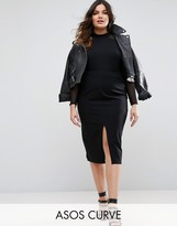 Asos Pencil Skirt With Front Split