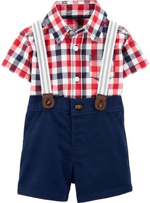 Carter's Baby Boy 2-Piece Dress Me Up Bodysuit & Shorts Set