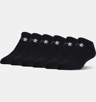 Under Armour Unisex UA Charged Cotton 2.0 No Show Socks - 6-Pack