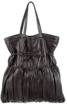 Rochas Leather Drawstring Tote