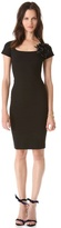DSquared Dsquared2 Sheath Dress with Brooch
