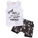 Zhengpin 2pcs Infant Kids Baby Boy T-shirt Tops+Shorts Summer Outfits Clothes Set