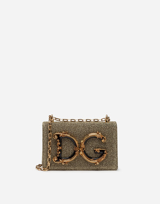 Dolce & Gabbana Girls Cross-Body Bag In Soft Lurex
