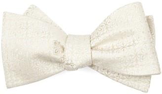 Tie Bar Opulent Light Champagne Bow Tie