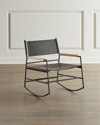Roddy Leather Rocker Chair