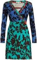 Diane von Furstenberg Brulon Foliage-print silk wrap dress