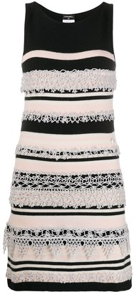 Chanel Pre Owned Crochet Applique Knitted Dress