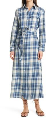 Polo Ralph Lauren Stephanie Plaid Long Sleeve Cotton Shirtdress