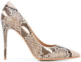 Salvatore Ferragamo python-effect Fiore pumps - women - Leather - 7.5