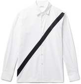 Public School - Neruda Grosgrain-trimmed Cotton Oxford Shirt