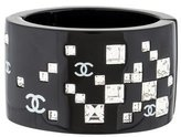 Chanel Crystal & Resin CC Bangle Bracelet