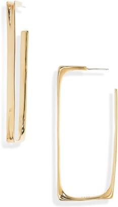FARIS Small Frame Hoop Earrings