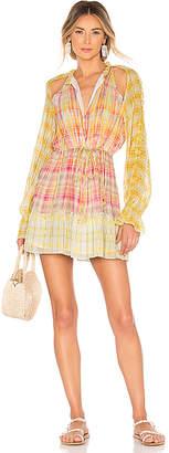 HEMANT AND NANDITA Thick and Thin Stripe Dress