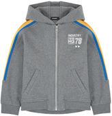 Diesel Zip mottled hoodie