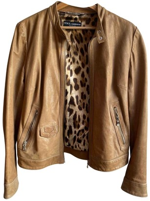 Dolce & Gabbana Camel Leather Jackets