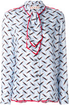 Marni tie neck printed blouse - women - Silk - 40