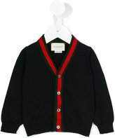 Gucci Kids - Web V-neck cardigan - kids - Cotton - 18-24 mth