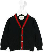 Gucci Kids Web V-neck cardigan