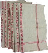 One Kings Lane Vintage French Linen Hand Towels, S/6