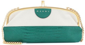 Marni Embossed leather clutch