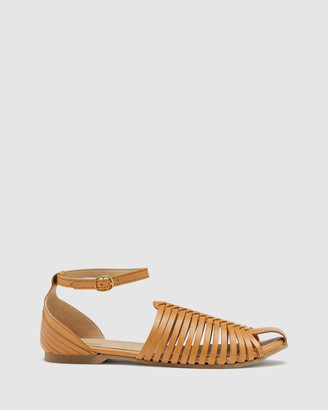 Oxford Women's Flat Sandals - Albina Woven Leather Sandal - Size One Size, 37 at The Iconic