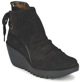 Fly London YAMA women's Low Ankle Boots in Black