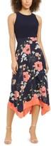 Vince Camuto Petite A-Line Floral-Print Dress