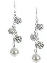 Cezanne Faux-Pearl & Fireball Drop Earrings