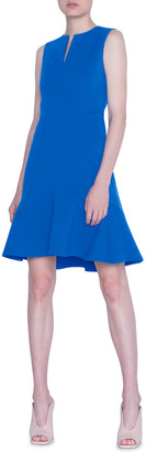 Akris Punto Techno-Stretch Flounce Dress